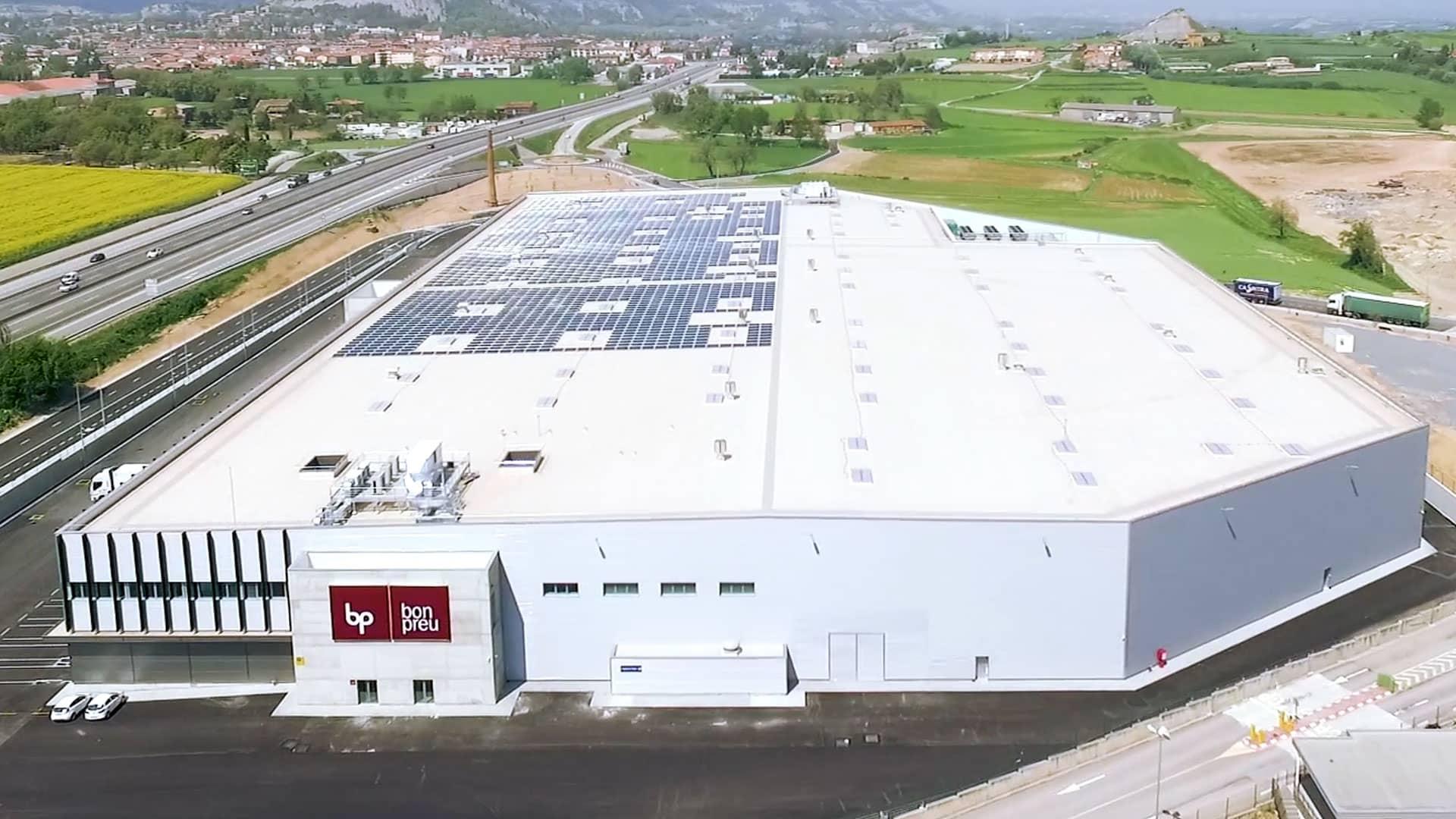 El nou magatzem de BON PREU compta amb la instal·lació d'autoconsum fotovoltaic més gran de Catalunya