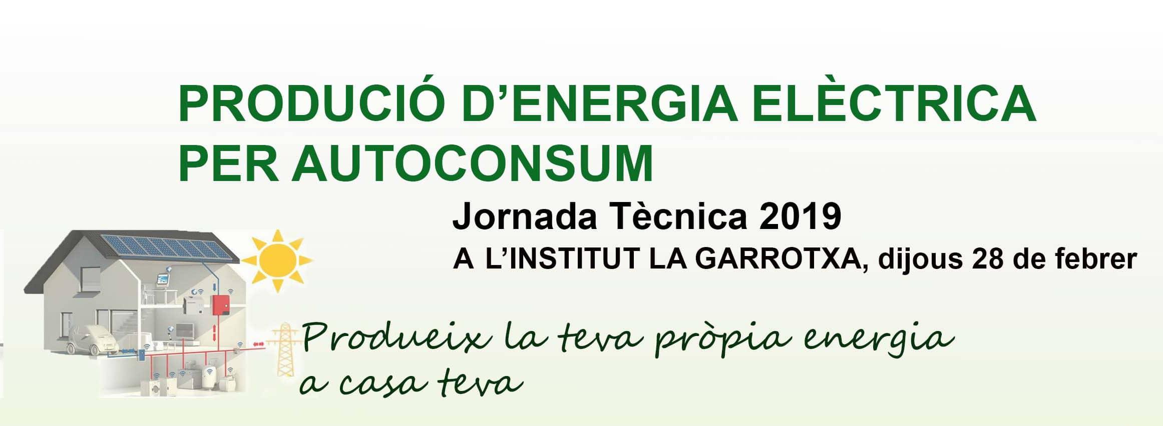 PRODUCCIÓ D'ENERGIA ELÈCTRICA PER AUTOCONSUM