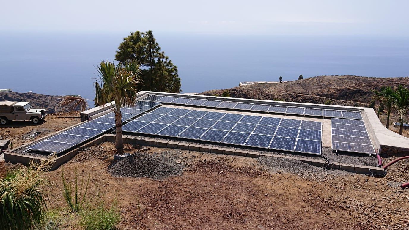 Nueva instalación con energías renovables en la isla de La Palma