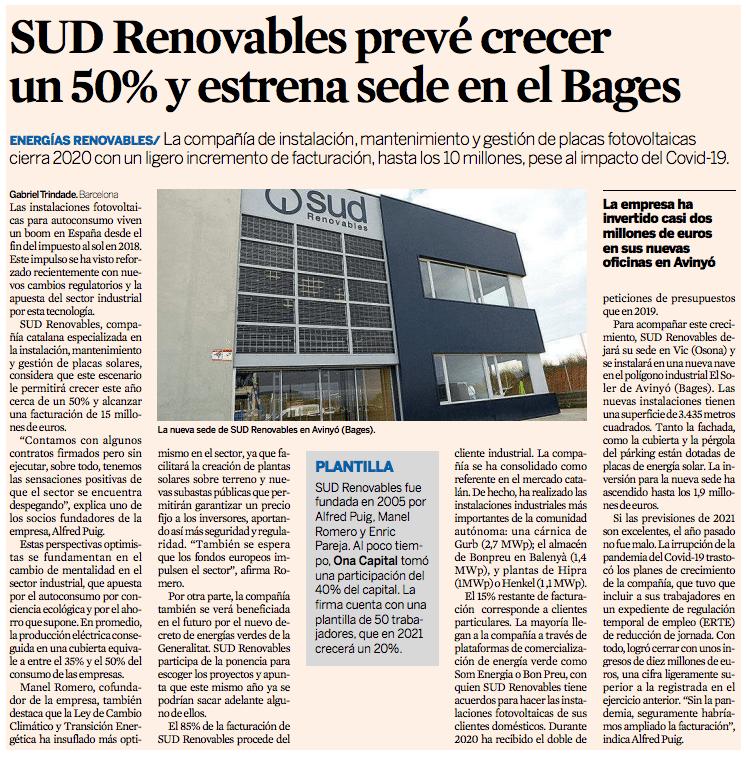 SUD Renovables diario Expansion noticia